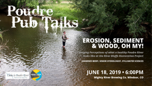 "Poudre Pub Talk: ""Erosion, Sediment, and Wood, Oh My!"" @ Mighty River Brewing 