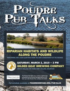 Poudre Pub Talk: Riparian Habitats and Wildlife Along the Poudre @ Gilded Goat Brewing Company | Fort Collins | Colorado | United States